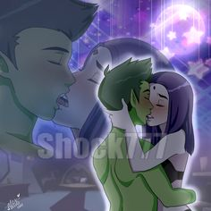 Raven Had lost her mind this time. It had been so many nights and so many days since they had started dating, but tonight felt like the first time. Her mind was spinning, All emotions were being thrown aside as Beastboy Kissed her passionately, under...