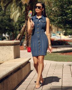 Image may contain: 1 person, standing, sunglasses and outdoor American Women, American Lady, Chic Couture Online, Shirt Dress, Casual, Hair, Shirts, Outfits, Beauty