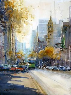 watercolor painting by David Taylor
