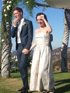 Daryl Wein and Zoe Lister-Jones, July 7, 2013, Malibu, CA