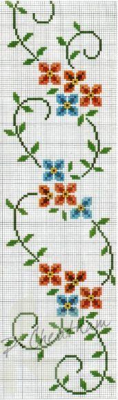Kanaviçe Havlu Örnekleri Şemalı 79 - Mimuu.com