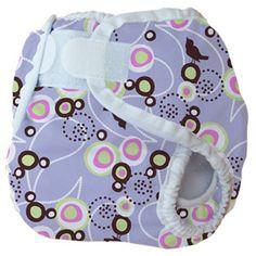 Thirsties Diaper Cover in Baby Bird Lavender
