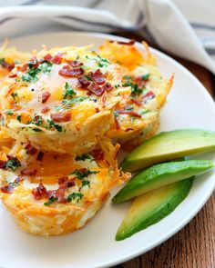 1. Hash Brown Egg Nests With Avocado #bakedeggs #recipes http://greatist.com/eat/baked-eggs-recipes-you-can-eat-any-time-of-day