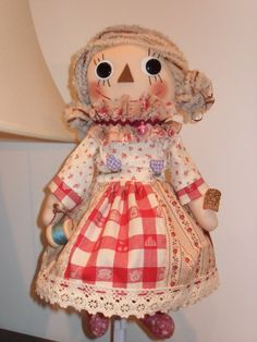 Beautiful Handmade Country Doll by Hexagoncrafts on Etsy, $75.00