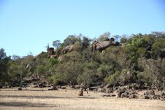 Eugowra Rocks, Eugowra NSW, the location of the Frank Gardner, Ben Hall Gang gold escort robbery.