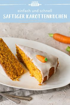 Juicy carrot cake-Saftiger Karottenkuchen If you love carrot cake, you& come to the right place. Bake the juiciest and lightest carrot cake with this simple recipe. Easy Cookie Recipes, Easy Desserts, Baking Recipes, Cake Recipes, Dessert Recipes, Summer Desserts, Dessert Simple, Tastemade Dessert, Banana Split