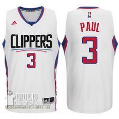 a098a92937e8 Los Angeles Clippers 2015 New Season Logo Chris Paul Swingman White Jersey
