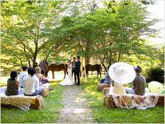a bright, laid-back, intimate backyard wedding