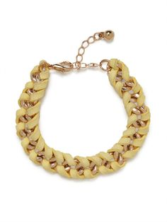 our yellow suede chain bracelet!