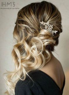 Wedding Hair Idea | Formal Hairstyle | Blonde Balayage | Long Curly Hair