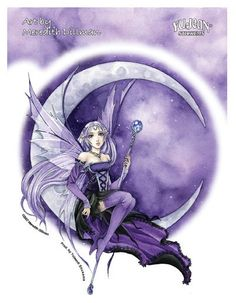 Purple Moon Gothic Anime Fairy T-Shirt Gothic Anime, Gothic Fairy, Fairy Wallpaper, Fairy Paintings, Moon Fairy, Fable, Fairy Pictures, Beautiful Fairies, Anime Fairy