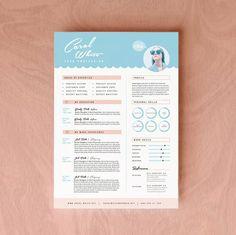 #Resume #CV Design + Cover Letter #Template for Word   Instant…