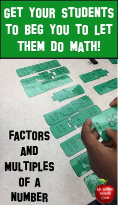 This math station contains 30 total problems in two differentiated games for students to practice finding factors and multiples.