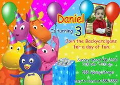 backyardigans birthday party | BACKYARDIGANS Photo Birthday Invitation U Print by PtyCards, $12.00