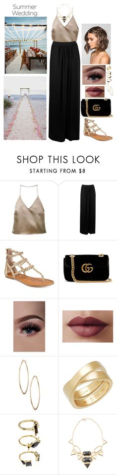 """summer wedding"" by giulivittori ❤ liked on Polyvore featuring Barbara Casasola, Boohoo, American Rag Cie, Reception, Gucci, Lydell NYC, Cartier, Noir Jewelry, Isharya and summerwedding"