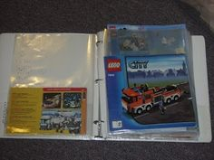 Binder organization for Lego instructions - already on my radar