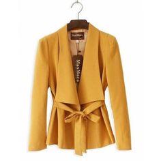 Pink Coat Women Korea Style Long Sleeve Slim Lapel Blends Suite S/M/L... ($32) via Polyvore
