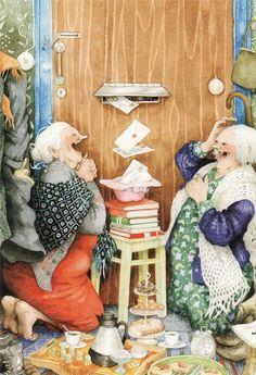 Оригинал взят у linda_lotiel в Веселые старухи Inge Löök Inge Löök - финская художница и садовод. Про неё я узнала благодаря посткроссингу - во всем мире пользуются…