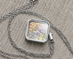 Watch Necklace, Resin Pendant, Cable, Victorian, Etsy Shop, Watches, Silver, Gifts, Accessories