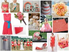 """""""Coral Wedding Inspirations"""" by highglosswed on Polyvore"""