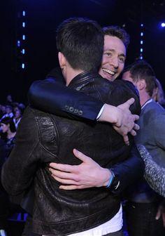 Tom Hiddleston and Chris Evans at MTV Movie Awards 2013