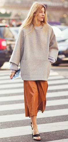 Over-sized sweater and culottes