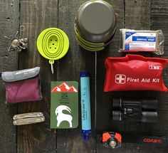 This camp kit features a fun little customized #riteintherain notebook full of memories and outdoorsy plans