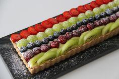 tærte med frisk frugt