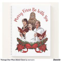 Vintage Star Wars Rebel Choir Notebook Vintage Humor, Funny Vintage, Star Wars Christmas, Christmas Ideas, Star Wars Store, Star Wars Merchandise, Rebel Alliance, Star Wars Gifts, Star Wars Rebels
