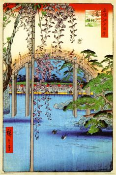 Grounds of Kameido Tenjin Shrine   Ando Hiroshige