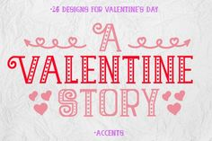 The Valentine Story is a lovely font decorated with hearts for Valentines Day. It comes with accents and 26 dingbats for creating beautiful and lovely original designs. Heart Font, Valentines Day Weddings, Cricut Fonts, Wedding Fonts, Free Fonts Download, Font Styles, Premium Fonts, All Fonts, Hand Lettering