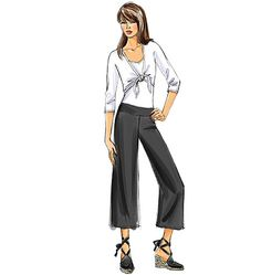 Fast & Easy Butterick sewing pants pattern for beginners who are comfortable sewing knits. If you are, it's an easy pattern. B4807, Misses'/Misses' Petite Pants and Sash