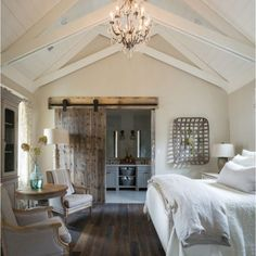 Most Beautiful Rustic Bedroom Design Ideas. You couldn't decide which one to choose between rustic bedroom designs? Are you looking for a stylish rustic bedroom design. We have put together the best rustic bedroom designs for you. Find your dream bedroom. Modern Farmhouse Bedroom, Modern Bedroom, Farmhouse Style, Rustic Farmhouse, Farmhouse Ideas, French Farmhouse, French Country, Bedroom Rustic, Industrial Bedroom