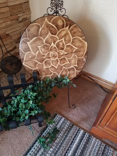 """A Beautiful 24x24"""" round decorative wood, Great for holiday gifts, home decoration, country living style, hand created, custome design by Masick360Creations on Etsy"""