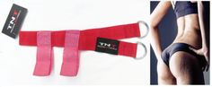 Glute-Butt-Strap-Cable-Machine-Attachment-Foot-Strap-Pink-Top-Gym