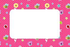 Invitaciones de jardín con fondo rosa para imprimir gratis. | Ideas y material gratis para fiestas y celebraciones Oh My Fiesta!