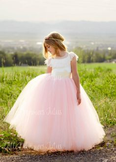 88f22059d0abf 34 Best Blush Tulle Flower Girl Dresses images in 2018 | Bridesmaid ...