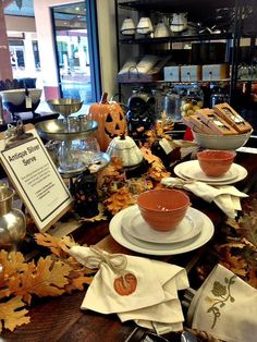 Pottery Barn fall  table setting