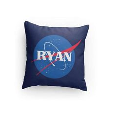 NASA Custom 14 x 14 Pillow Personalize with Name by RockYourWalls Space Party, Space Theme, Solar System Room, Bedroom Themes, Bedroom Ideas, Kids Pillows, Dorm Decorations, Nasa, Astronaut