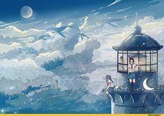 Картинки по запросу ảnh anime phong cảnh