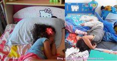 Estava eu na cozinha quando me dou conta que já ninguém gritava pela mãe há algum tempo, fui espreitar o que andavam a tramar e.... estavam os 2 a dormir cada um na sua cama!!!!!