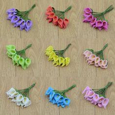 12 ピース/ロット泡オランダカイウ handmake造花ブーケ結婚式の装飾diy花輪ギフト ボックス スクラップブッキングクラフト フェイクフラワー