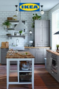 At IKEA, we've designed our affordable modular kitchen range to be durable, smart and flexible for you. And now with our free virtual kitchen planning appointments, the possibilities for your dream kitchen are endless. T&Cs apply. Kitchen Organization Pantry, Kitchen Storage Solutions, Diy Kitchen Storage, Kitchen Layout Plans, Kitchen Planning, Open Plan Kitchen Living Room, Basic Kitchen, Modern Farmhouse Kitchens, Trendy Home