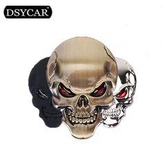 3D Kim Loại Skull Xe Máy Xe Đạp Xe Nhãn Dán Biểu Tượng Emblem Badge Xe Styling đối với Fiat Bmw Ford Lada Audi opel skoda toyota KTM volvo
