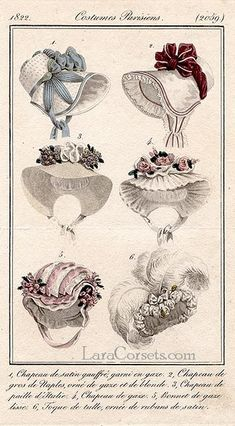 A romantically lovely selection of cheerful, springtime appropriate bonnets from…