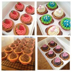 Delicious cookie cupcakes made to order. You can specify your own design or choose fro our gallery.  £4.50 per box of 6 cakes