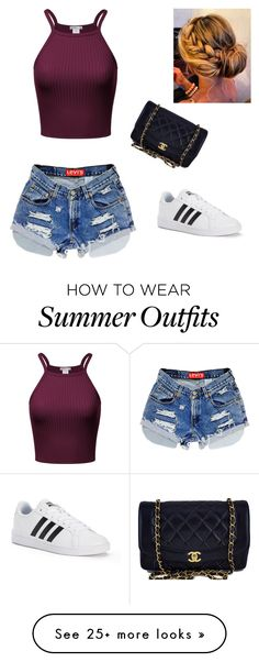 """Summer outfit"" by mfowkes on Polyvore featuring adidas and Chanel"