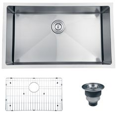 @Overstock - The Ruvati kitchen sink features a heavy-duty, 16-gauge stainless steel construction. This sink also highlights a deep bowl, Tight Radius sharp inside corners, sound guard padding, and includes an installation guide and basket strainer.http://www.overstock.com/Home-Garden/Ruvati-16-gauge-Stainless-Steel-32-inch-Single-Bowl-Undermount-Kitchen-Sink/7030010/product.html?CID=214117 $345.00