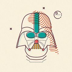 Colorful, Pop-Art Illustrations Of Darth Vader, Other 'Star Wars' Characters - DesignTAXI.com