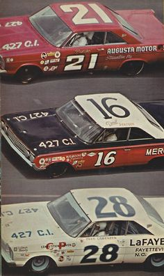 65 Daytona 500. Golden Boy Fred Lorenzen in the  Holman Moody #28 was the winner  Hot Rod Magazine May 1965